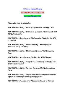 ACC 564 TUTOR Great Stories /acc564tutor.com