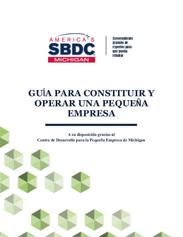 Guide to Starting and Operating a Small Business   Spanish GUÍA PARA CONSTITUIR Y OPERAR UNA PEQUEÑA EMPRESA