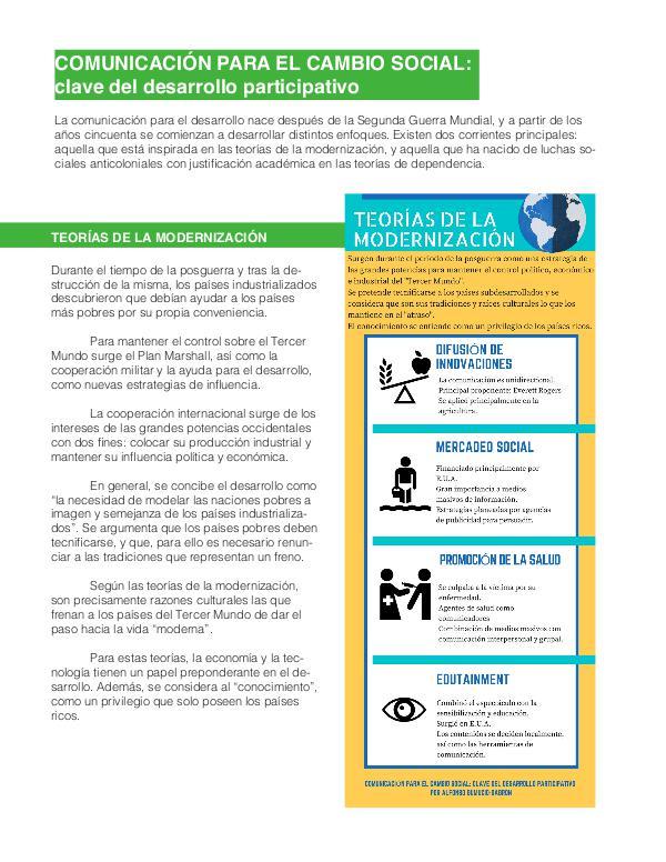 Comunicación para el Cambio Social (Ensayo) 1