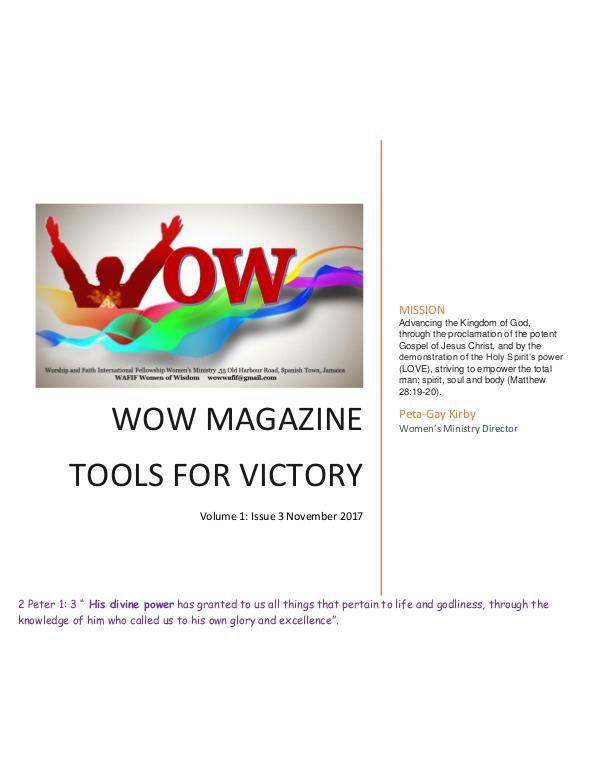 WAFIF WOW magazine Tools For Victory WAFIF WOW Magazine Nov '17