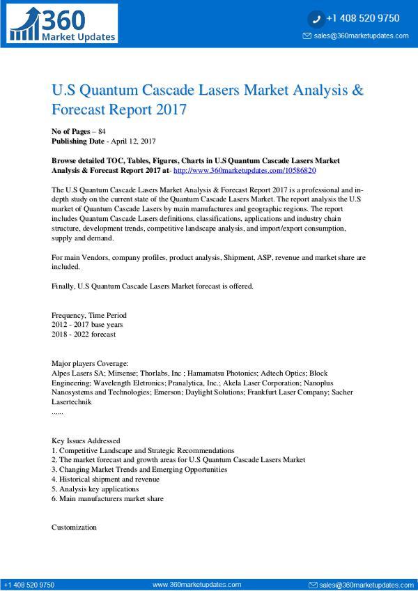 Market Research Reports Quantum Cascade Lasers Market