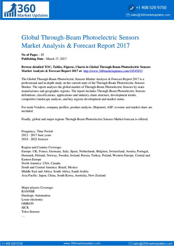Report- Through-Beam-Photoelectric-Sensors-Market-Analysis