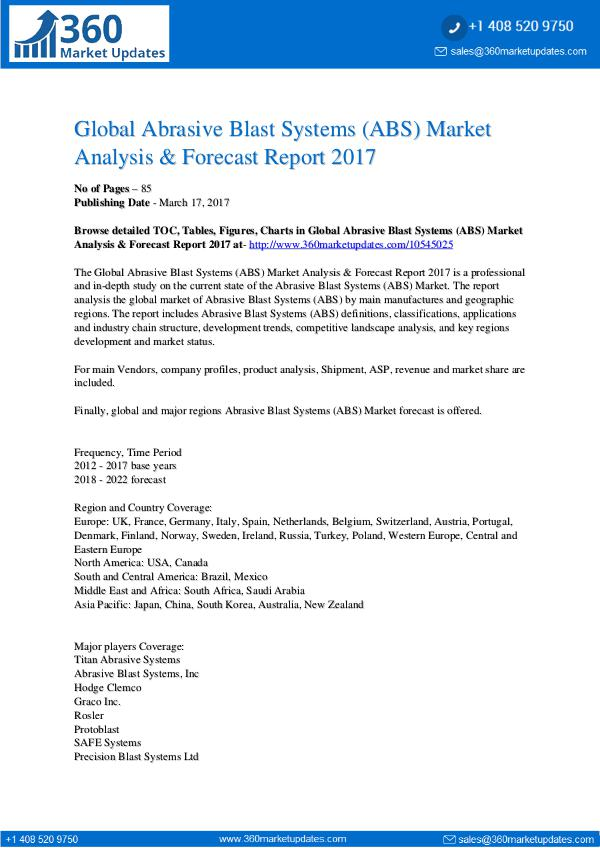Report- Abrasive-Blast-Systems-ABS-Market-Analysis-Forecas
