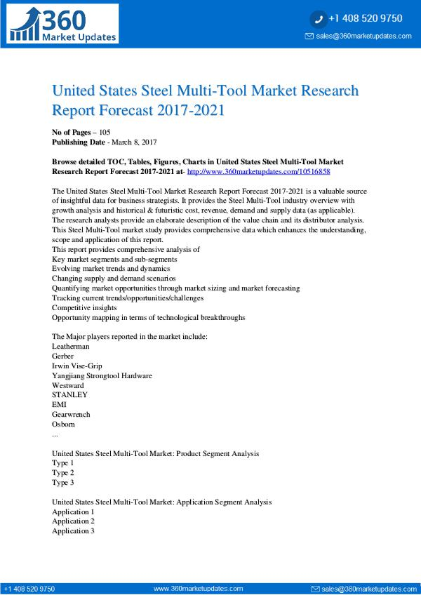 Report- Steel-Multi-Tool-Market-Research-Report-Forecast-2