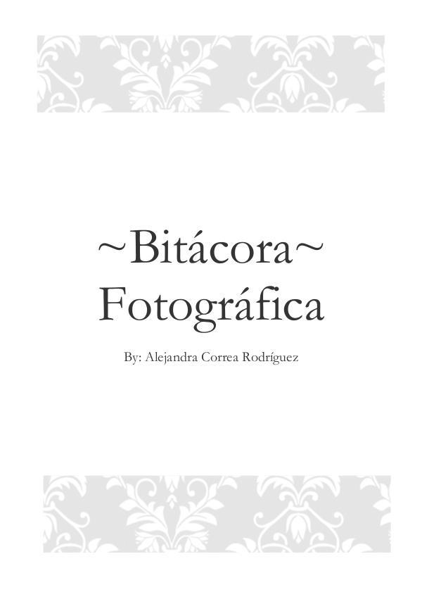 Bitácora fotográfia 1