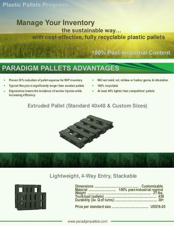 Paradigm Plastic Pallets Introduction