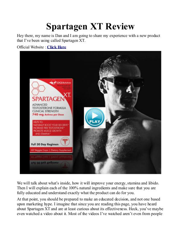Spartagen XT UK / Price Review Buy Free Trial