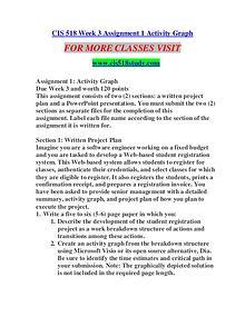 CIS 518 STUDY Learn Do Live /cis518study.com