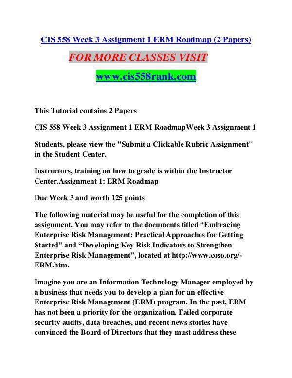 CIS 558 RANK Learn Do Live /cis558rank.com CIS 558 RANK Learn Do Live /cis558rank.com