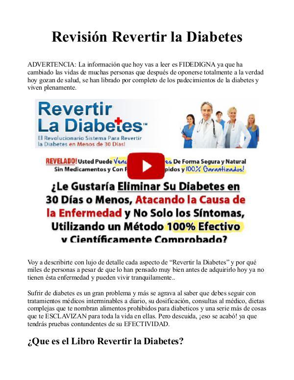 Revertir la Diabetes PDF / Libro Descargar Gratis Tipo 2 De Sergio Russo