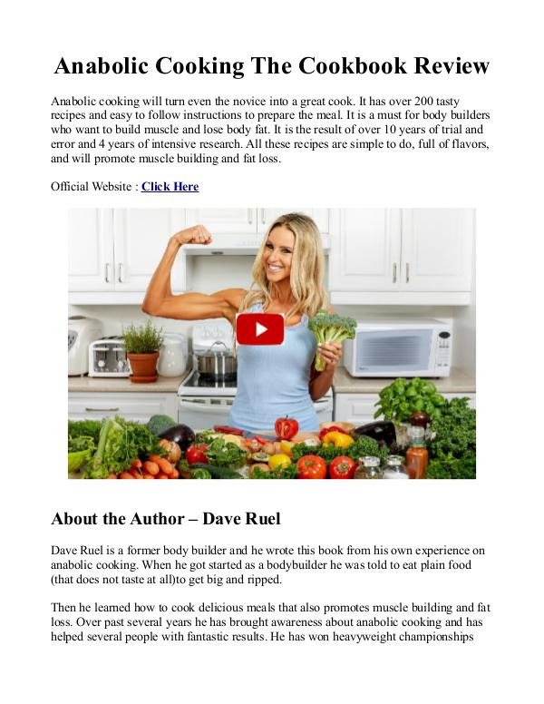 Anabolic Cooking Pdf Cookbook Is Dave Ruel Ebook Free Download