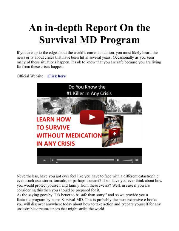 Survival MD PDF / Book Free Download Survival MD PDF Free Download