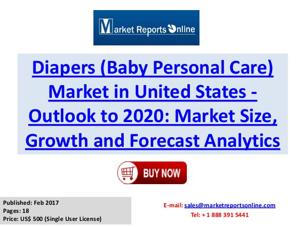 Diapers Industry United States Market Analysis, Growth, Share, Indust Diapers Market