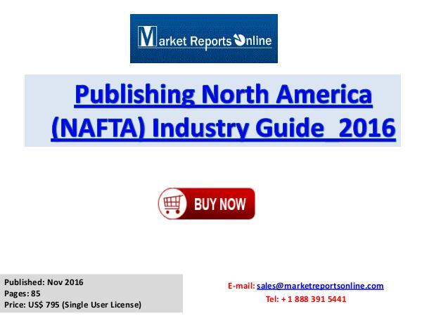 Publishing Market North America Analysis 2016 Publishing North America