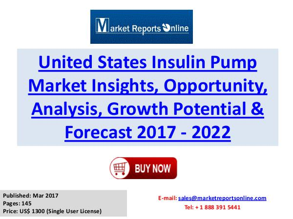 Insulin Pump Market Research Report and Trends Forecasts 2017 to 2022 Insulin Pump Market Global Analysis 2017