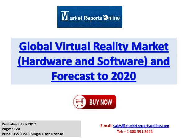 Global Virtual Reality Industry Growth Analysis and Forecasts To 2020 Virtual Reality Market Global Analysis 2017