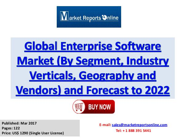 Enterprise Software Market Research Report and Trends Forecasts 2022 Enterprise Software Market: 2017 Global Industry