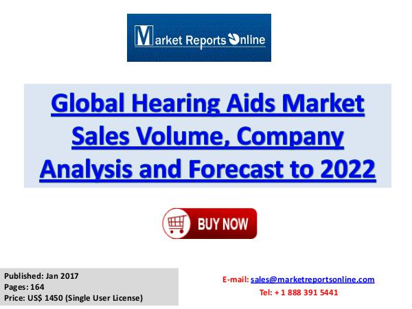 Hearing Aids Industry Growth Analysis and Forecasts To 2022 Hearing Aids Market: 2017 Global Industry Trend