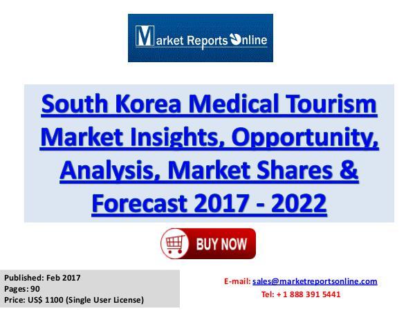 2017 South Korea Medical Tourism Market Growth Analysis Forecast 2022 Medical Tourism Market South Korea Analysis 2017