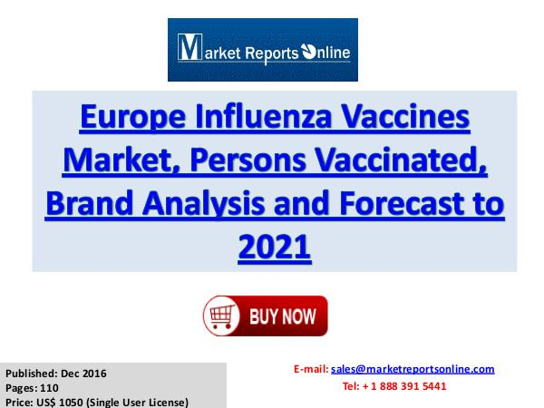 Influenza Vaccines Market Research Report and Trends Forecasts - 2021 Influenza Vaccines Market - Europe Industry