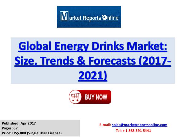 Energy Drinks Market Research Report and Trends Forecasts 2017 - 2021 Energy Drinks Industry: 2017 Global Market Trend