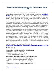 Anthracene Market Growth Analysis and Forecasts To 2022