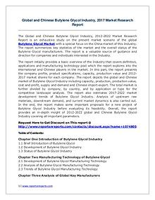 Butylene Glycol Market Growth Analysis and Forecasts To 2022