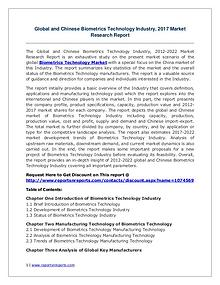 Biometrics Technology Market Growth Analysis and Forecasts To 2022
