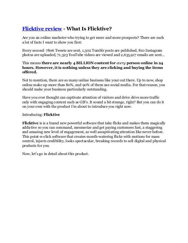 Flicktive review & (GIANT) $24,700 bonus