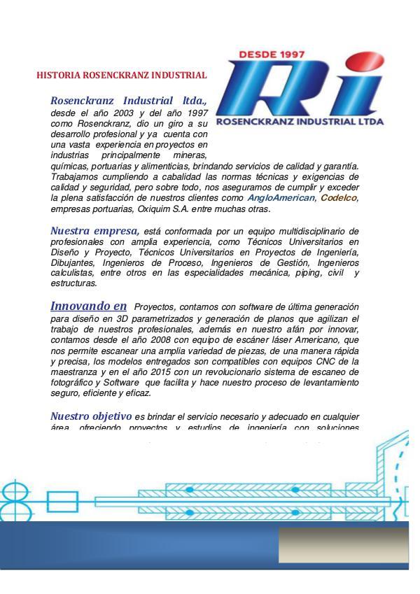 Servicio de Ingeniería ROSENCKRANZ iNDUSTRIAL LTDA. Presentacion RI _2017