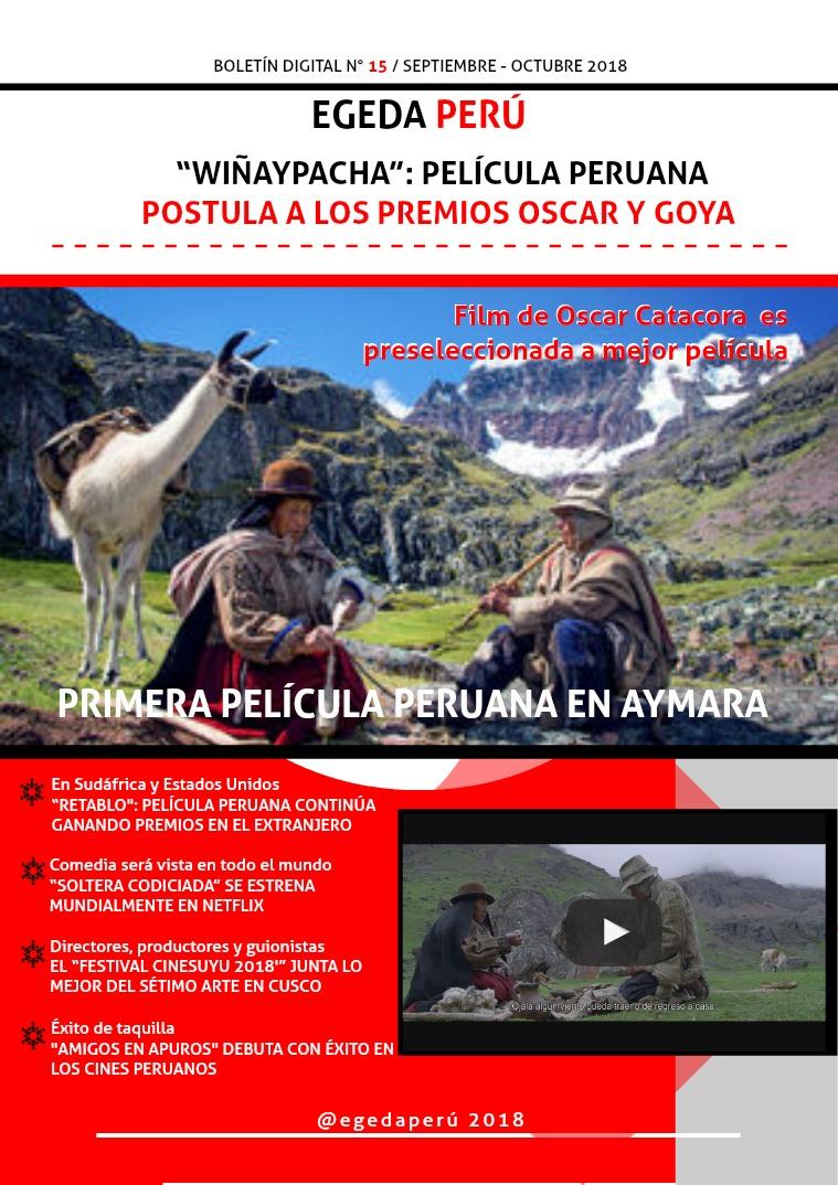 BOLETÍN DIGITAL EGEDA PERÚ N° 15