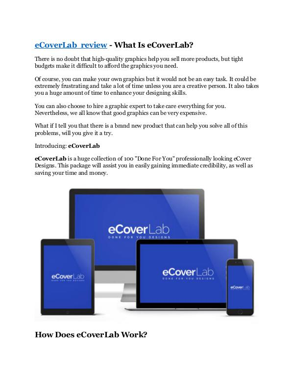 Marketing eCoverLab Review - $9700 Bonus & 80% Discount