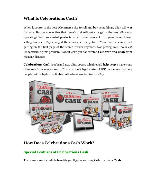 Marketing Celebrations Cash review demo and premium bonus