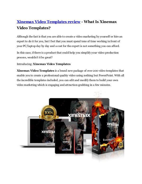 Xinemax Video Templates Review -(FREE) $32,000 Bon
