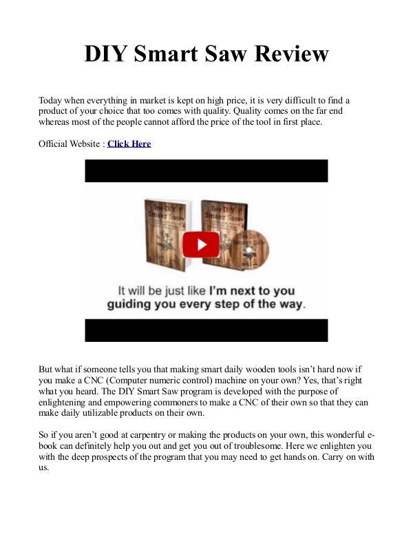 DIY Smart Saw PDF / Plans Is Alex Grayson Book Free Download?