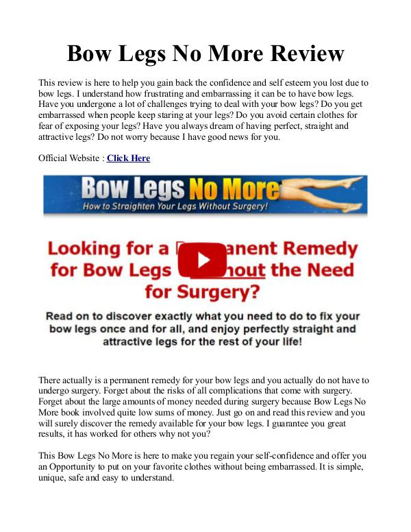 Bow Legs No More PDF / Exercises Free Download Bow Legs No More Book Free Download