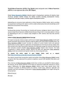 World Silicon Nanowires (SiNWs) Market Research Report 2017