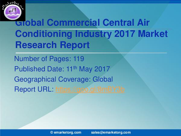 Global Commercial Central Air Conditioning Market Research Report Development of Commercial Central Air Conditioning