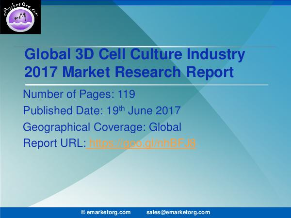 Global 3D Cell Culture Market Research Report 2017 3D Cell Culture Market 2017 Business Planning Rese