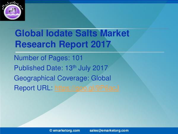 Global Iodate Salts Market Research Report 2017 Global and USA Iodate Salt Market Overview, Size,