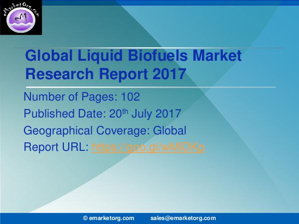 Global Liquid Biofuels Market Research Report 2017 Liquid Biofuels Market 2017 - Global Industry Size