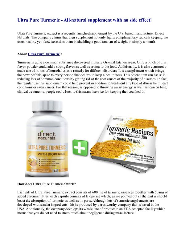 Green Relief Direct Natural Ultra Pure Turmeric