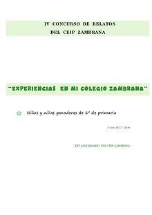 Relatos de 6º del CEIP Zambrana