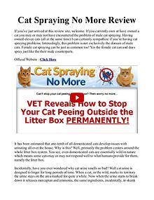 Cat Spraying No More PDF / Review