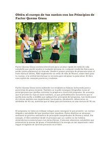 Factor quema grasa pdf gratis