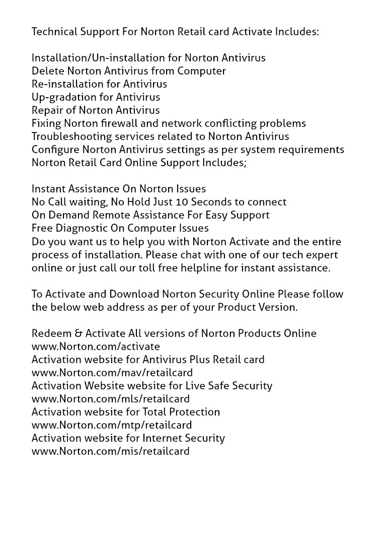18OO 252 OO44 Activation key For Symantec Norton Antivirus 360 2017 Norton activation online, Norton activate, Norton