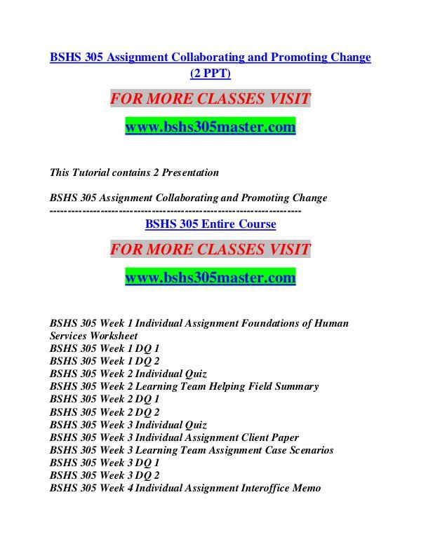 BSHS 305 MASTER Think Big /bshs305master.com BSHS 305 MASTER Think Big /bshs305master.com