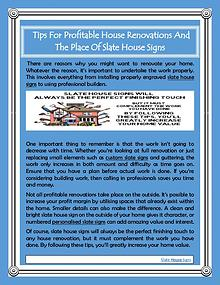 Tips For Profitable House Renovations And The Place Of Slate House