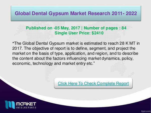 Dental Gypsum Market Research Report Forecast 2012