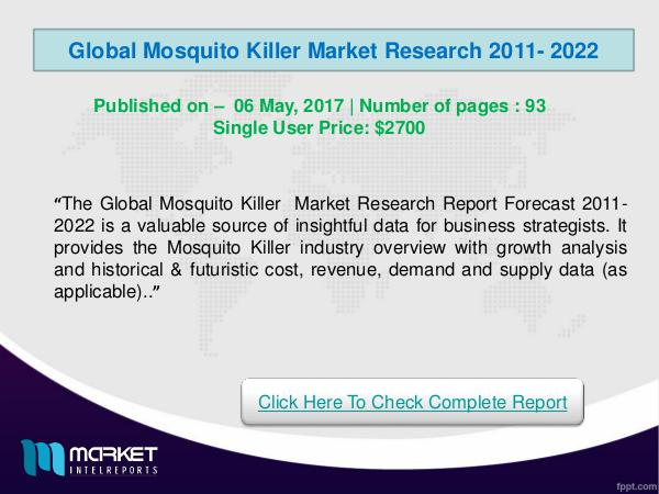 Global Mosquito Killer Market Research -2022